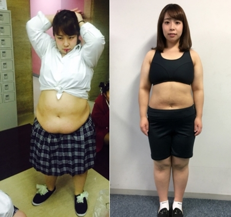 痩せていた頃との比較画像