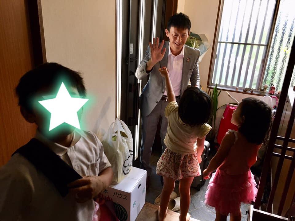 小野泰輔の家族は妻と3人(双子)の子供!