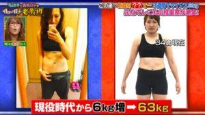 丸山桂里奈が可愛かったのは今より-6キロだった!太った理由は?